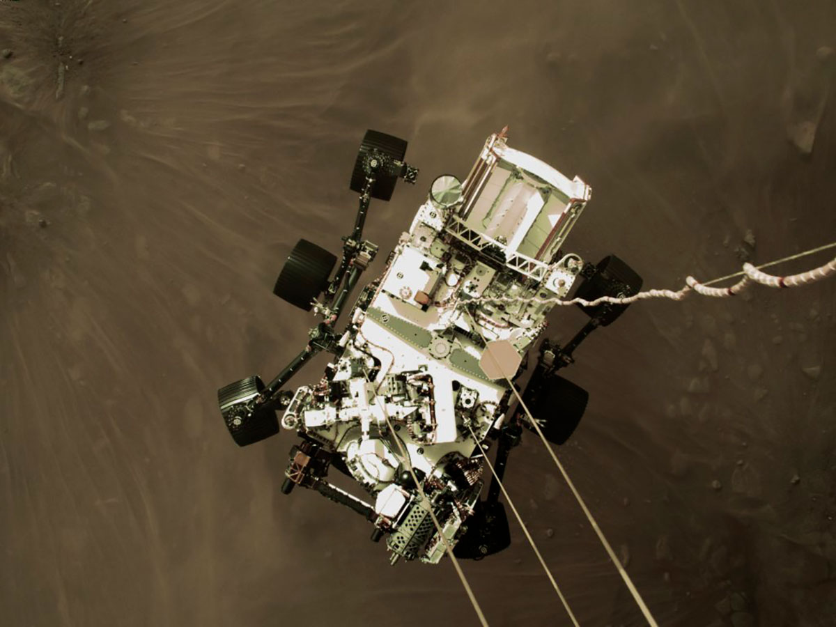 NASA divulga el primer video y sonido de la llegada del Perseverance a Marte