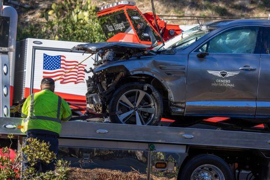 Tiger Woods, Accidente, lesiones
