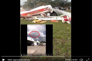 VIDEO: Momento exacto en que nieto del Señor de los Cielos muere en accidente aéreo