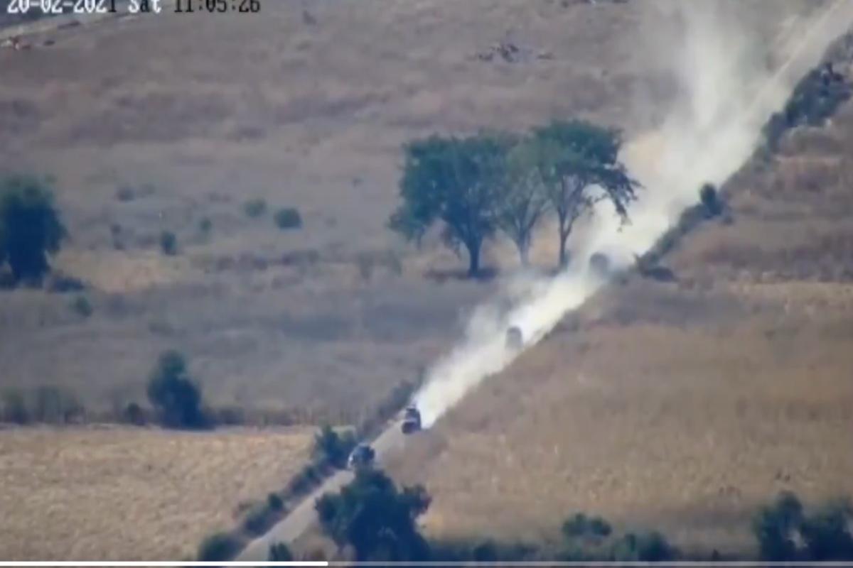 VIDEO: Trocas monstruo del CJNG entraron así a zona donde después los derrotaron