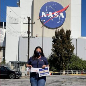 Orgullo latino: salvadoreña forma parte de la exitosa misión de la NASA en Marte