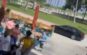La peligrosa persecución de un auto en una zona peatonal de Miami Beach que atemorizó a los turistas