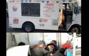 Intentaron cruzar en un camión de raspas a 17 inmigrantes por el área de Laredo