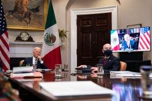 El primer encuentro entre Biden y AMLO comienza hablando de la Virgen de Guadalupe