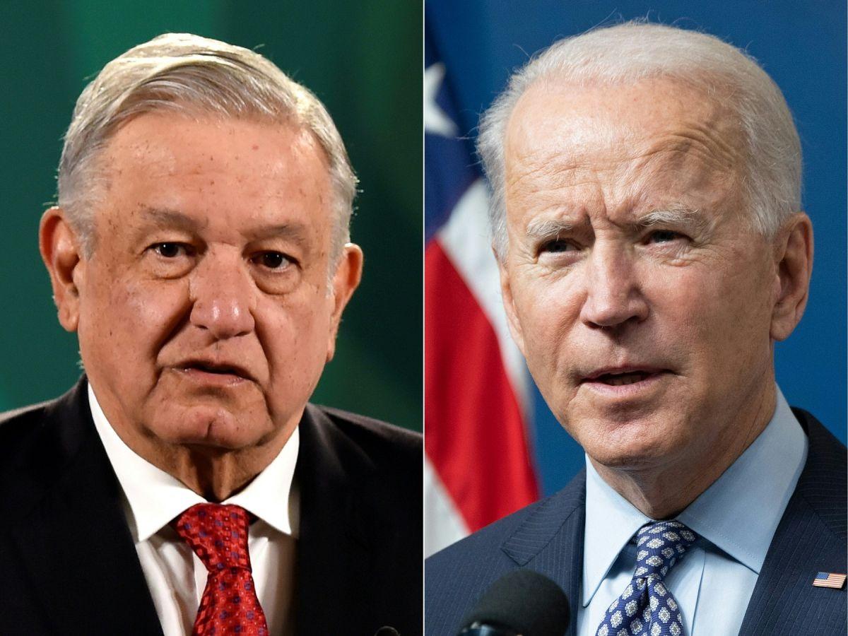 Los presidentes Andrés Manuel López Obrador y Joe Biden.