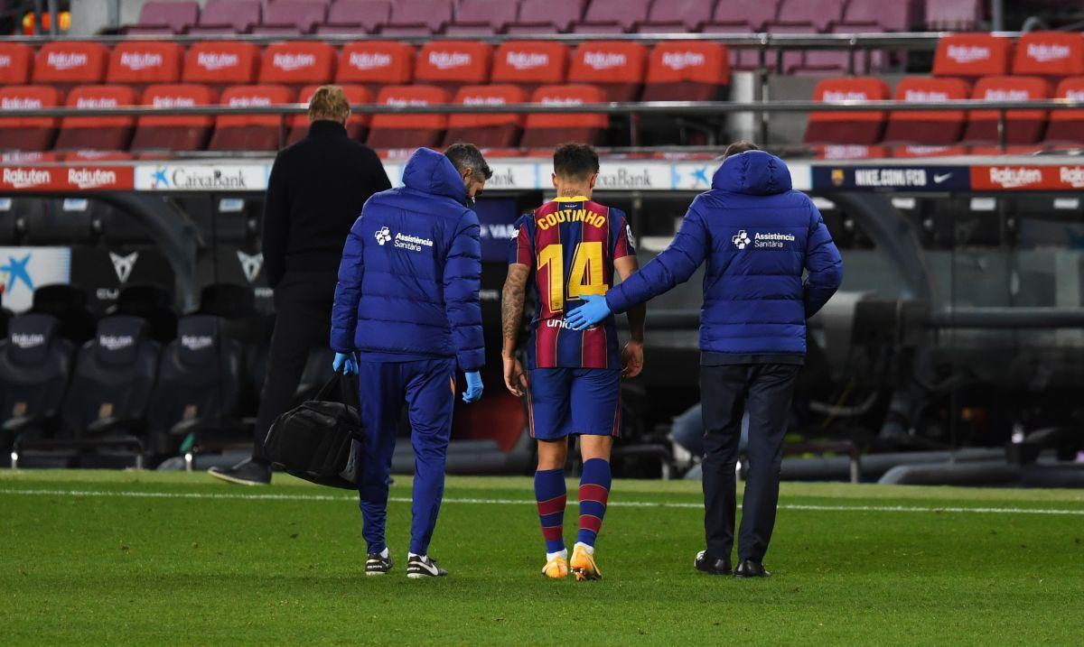 Philippe Coutinho disputó su último partido ante Eibar el 29 de diciembre de 2020.