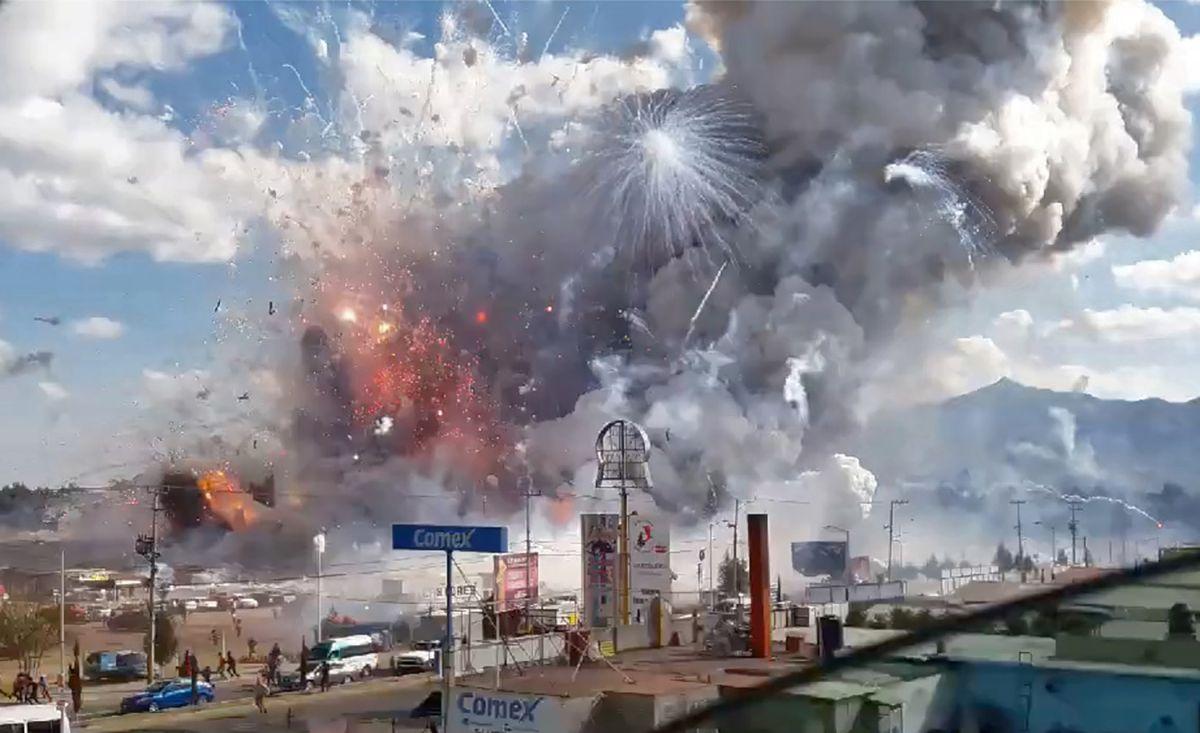 Emergen imágenes espeluznantes por la explosión de juegos pirotécnicos en casa de Ontario, California