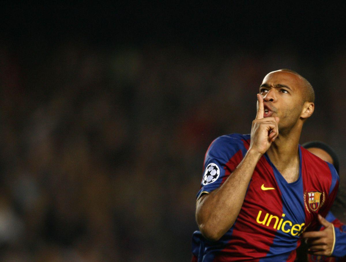 Thierry Henry fue compañero de Messi en el Barcelona del 2007 al 2010.