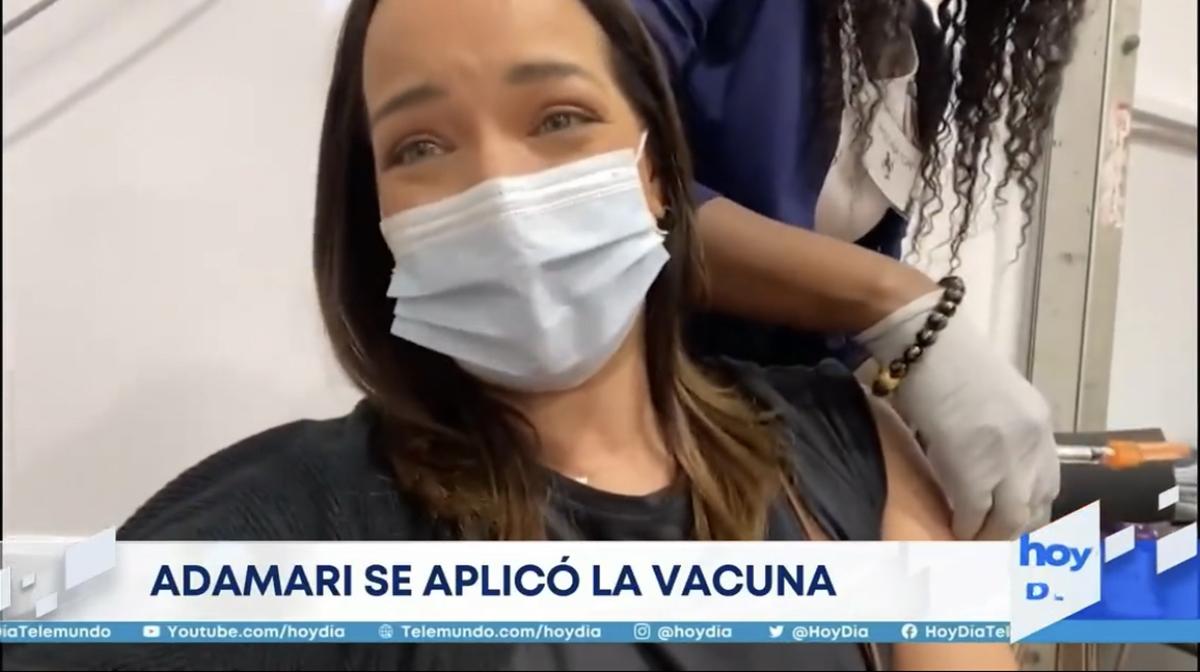 Adamari López se vacuna contra el COVID-19