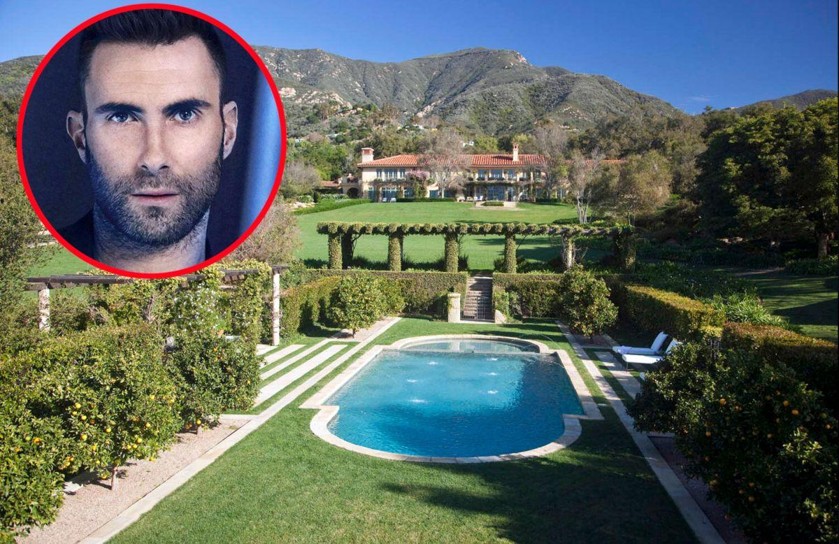 Te llevamos a conocer la centenaria e histórica mansión de Adam Levine en Montecito