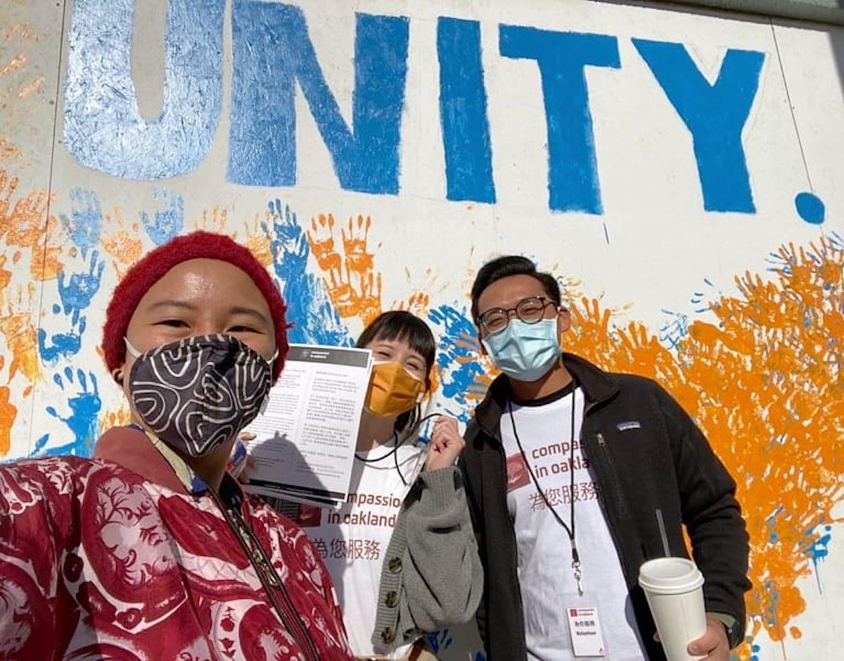 En Oakland, surgen voluntarios contra el odio hacia los asiáticos. (Foto/Kasey N.Pham)