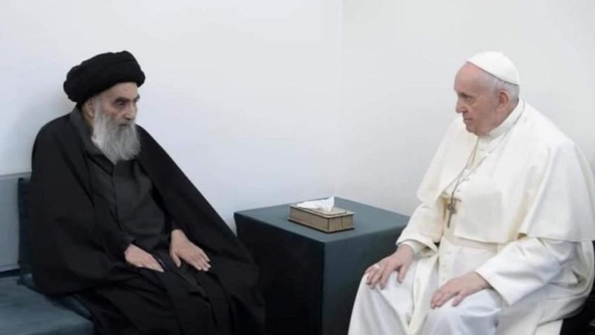Cómo fue el histórico encuentro del papa Francisco y el líder chiita en Irak
