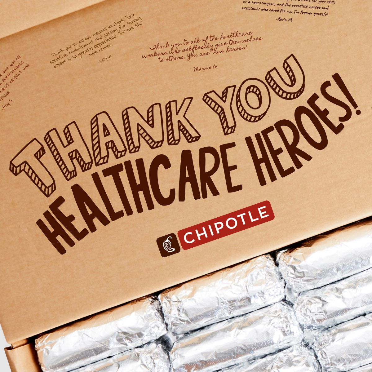 Chipotle regalará comida a los profesionales de la salud