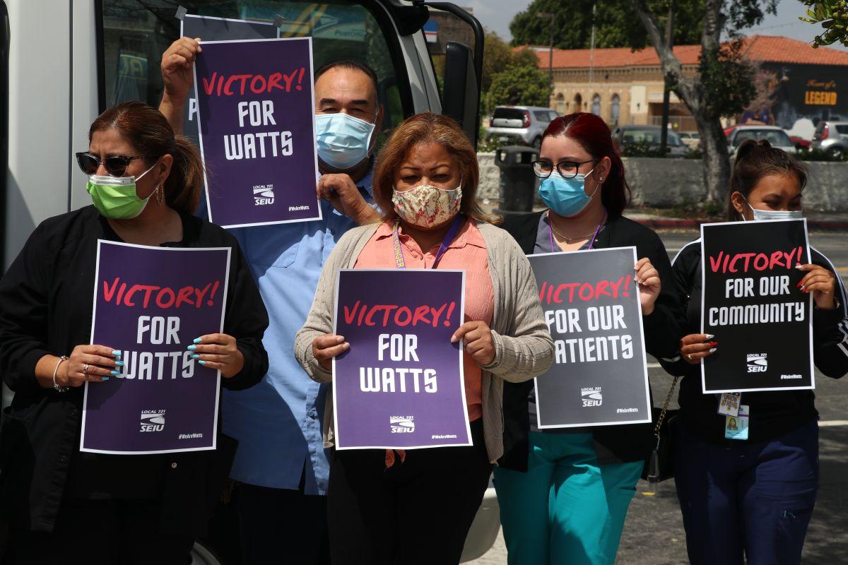 Victoria para los trabajadores de salud en Watts