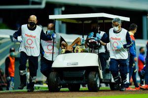 ¡Carnicería en la Concachampions! Futbolista del América sufrió una fractura de peroné
