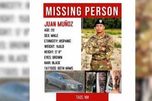 Hallan muerto al joven soldado desaparecido Juan Muñoz en Nuevo México