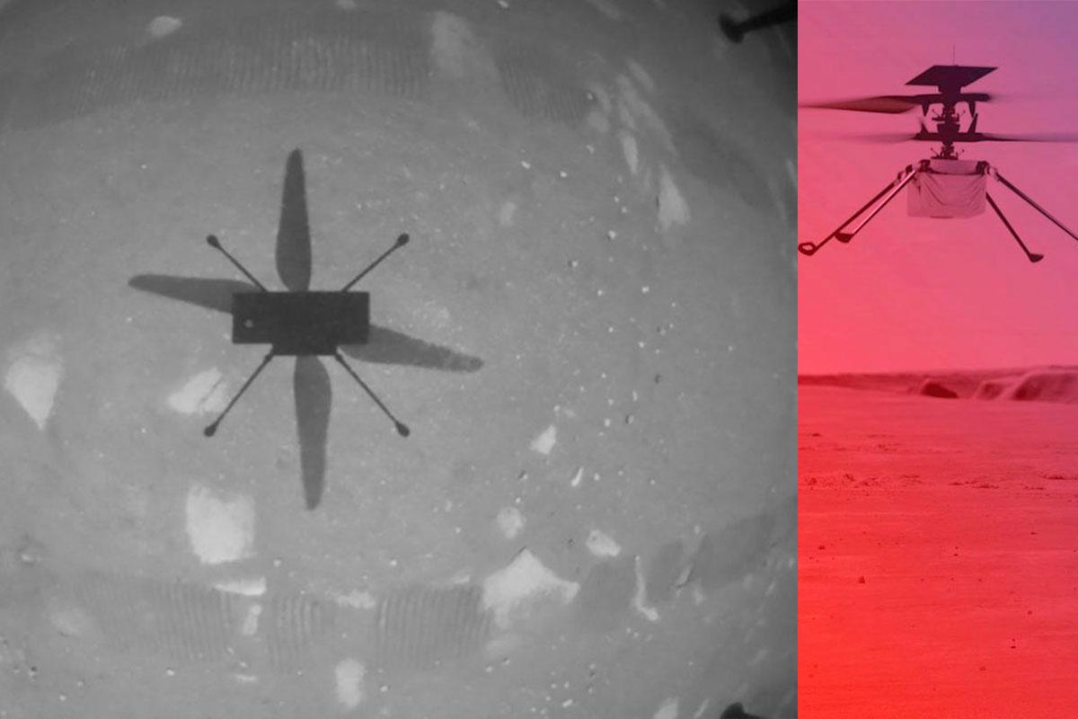 Helicóptero Ingenuity hace historia; realiza con éxito el primer vuelo en Marte