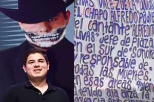 Fotos: Las narcomantas donde relacionaron a papá del cantante Alfredito Olivas con narcos