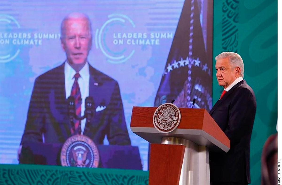"""AMLO propone en cumbre climática a Joe Biden programa """"Sembrando Vida"""" para ordenar flujo migratorio"""