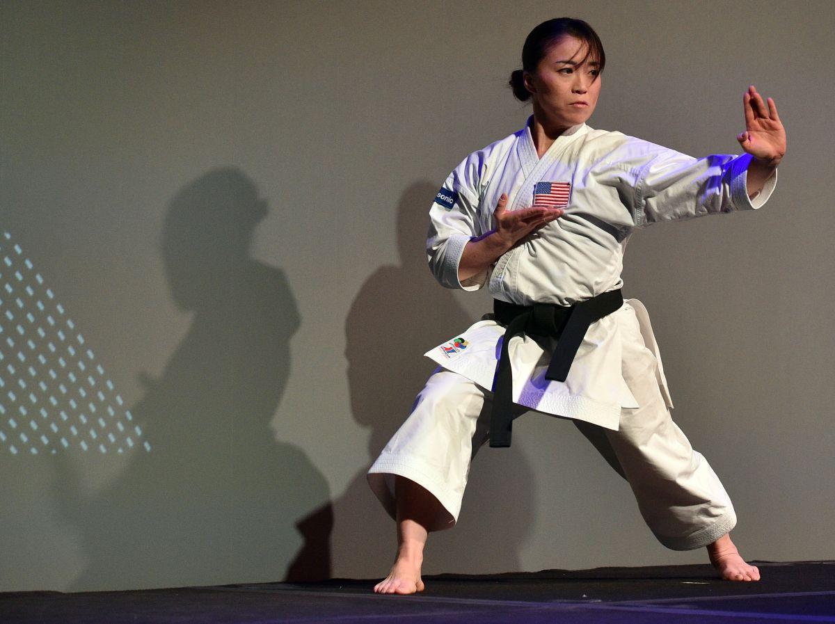 La karateka se estaba entrenando para las próximas Olimpiadas.