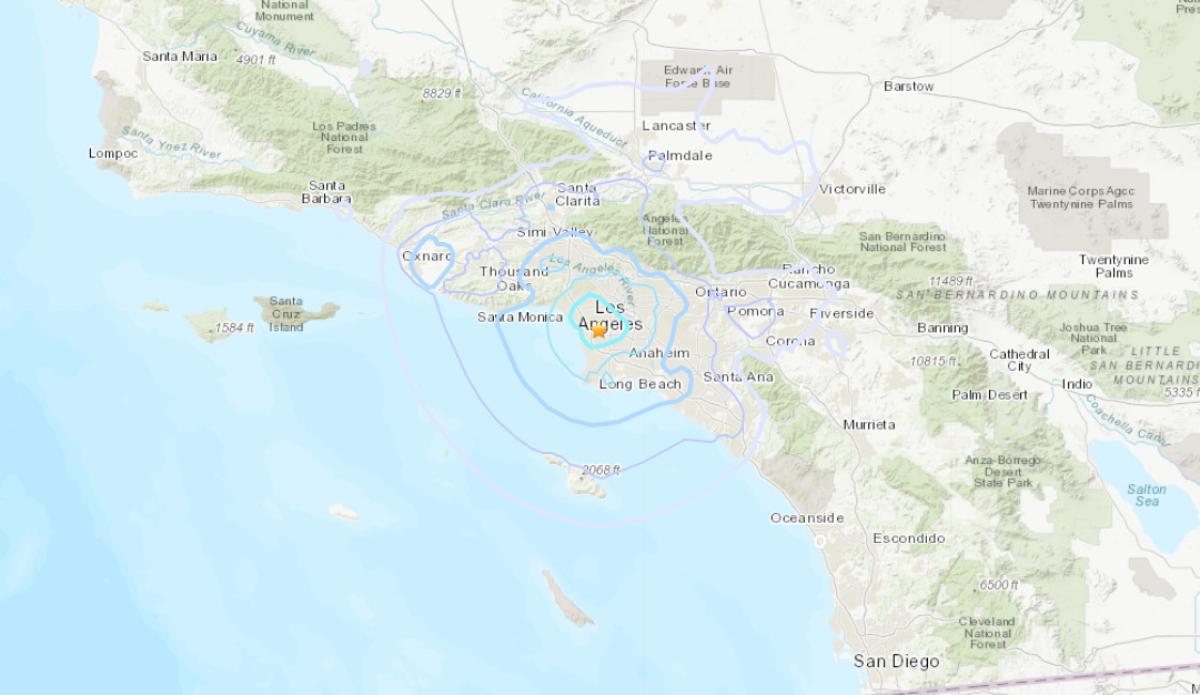 Dos temblores de magnitud 4.0 y 3.3 sacuden LA
