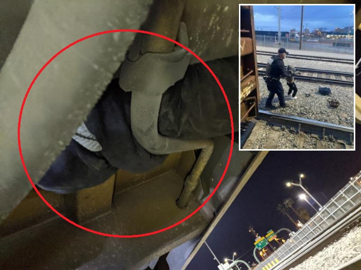 Patrulla Fronteriza detiene a cientos de inmigrantes escondidos debajo de vagones de tren