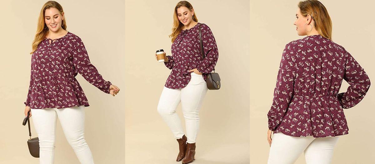 7 opciones de blusas con elástico para esconder la barriga si subiste de peso