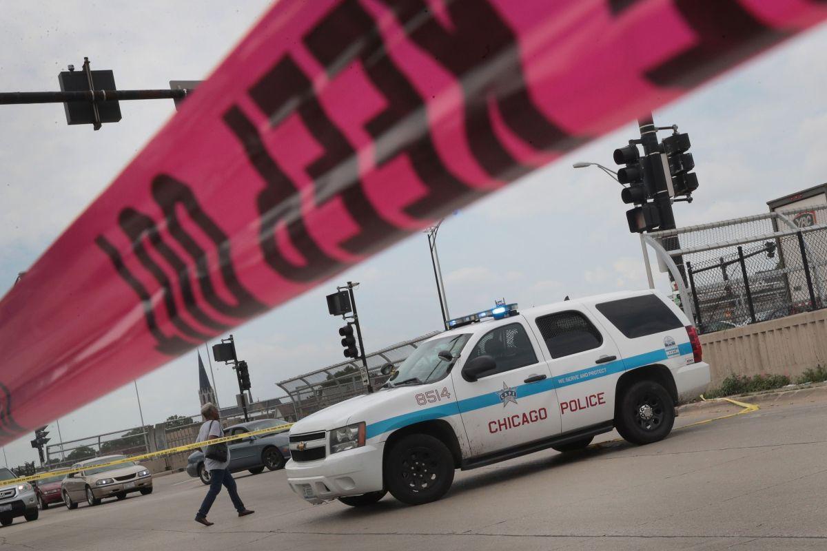 Patrulla policial en Chicago.