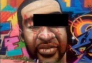 "Desfiguran mural de George Floyd en Houston con palabras racistas; ""N***** lives don´t matter"""