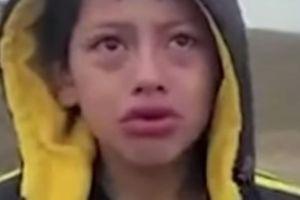 El niño abandonado en la frontera es de Nicaragua y tiene 10 años; un video de él llorando se hizo viral