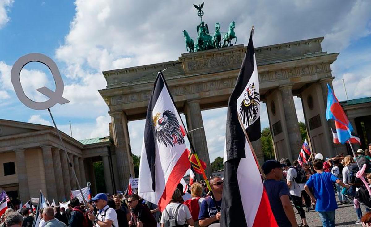 El movimiento Querdenken ha atraído el apoyo de una variedad de grupos.