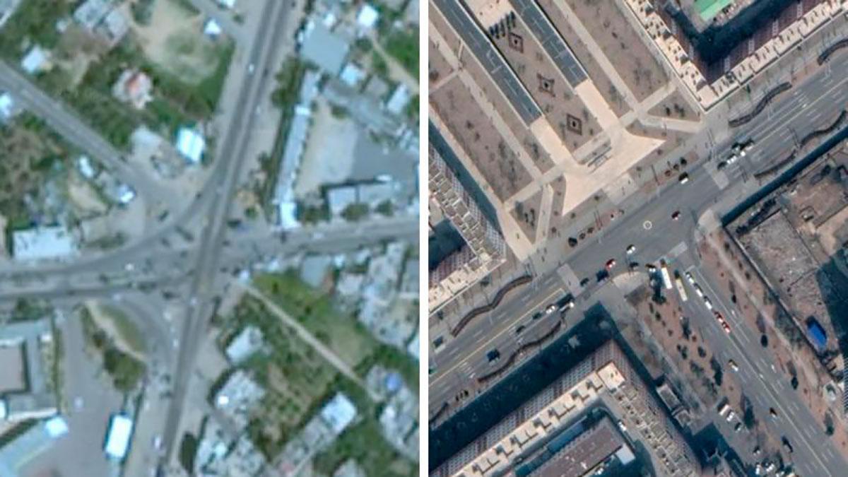 ¿Por qué Gaza aparece borrosa en Google Maps?