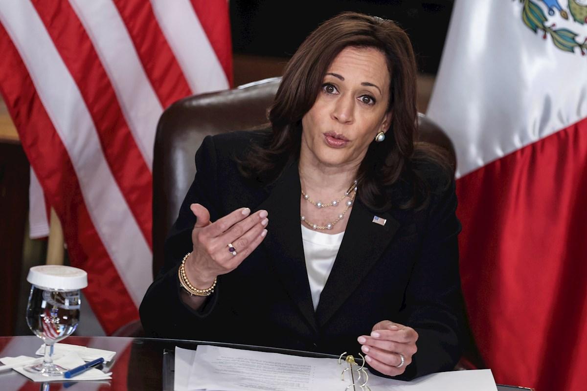 La vicepresidenta Kamala Harris.