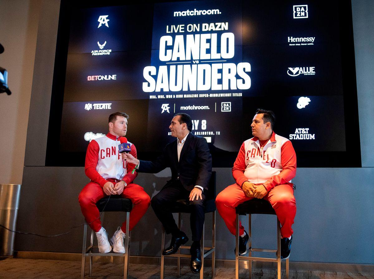 ¿Se cae la pelea? Saunders increpó a Canelo, no se presentó al careo y pide cambiar el tamaño del ring