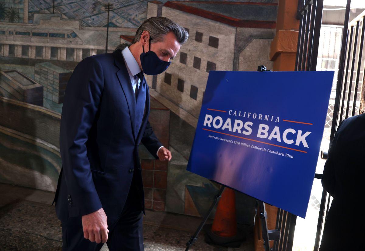 Gavin Newsom, gobernador de California, no pudo evitar la elección revocatoria.