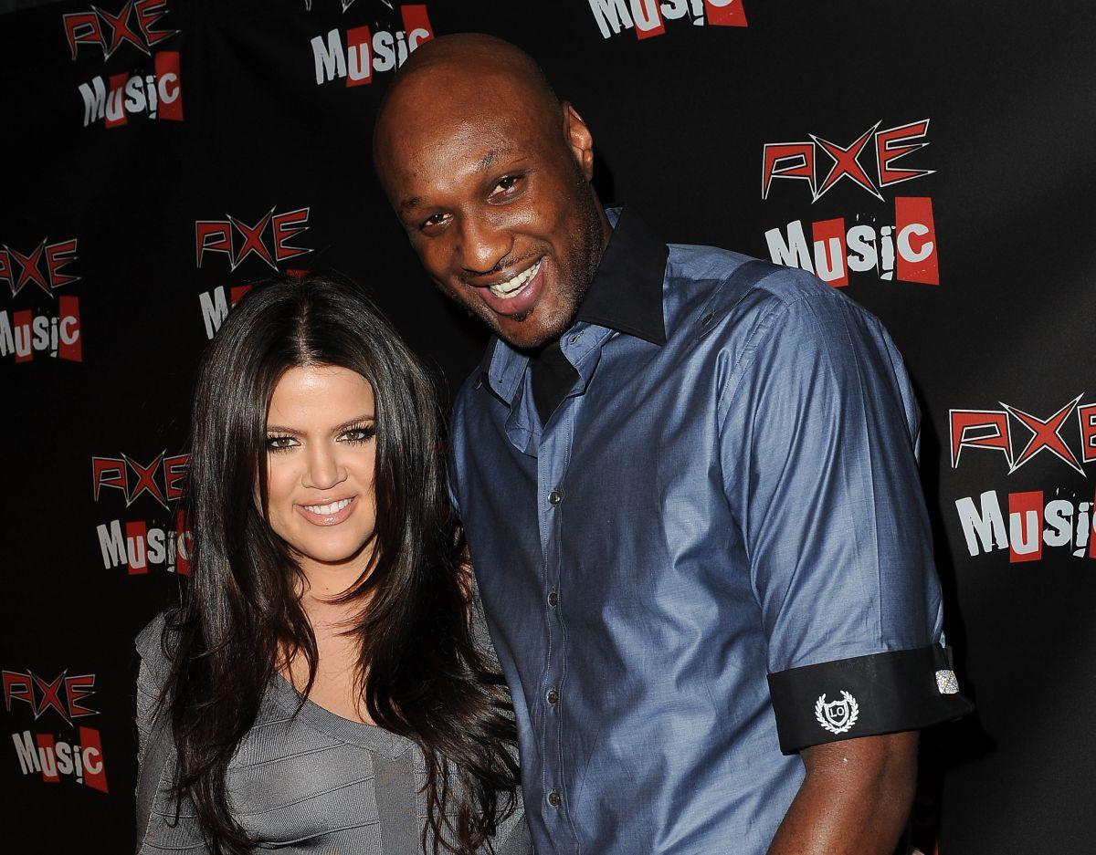Khloée Kardashian y Lamar Odom, 2010.