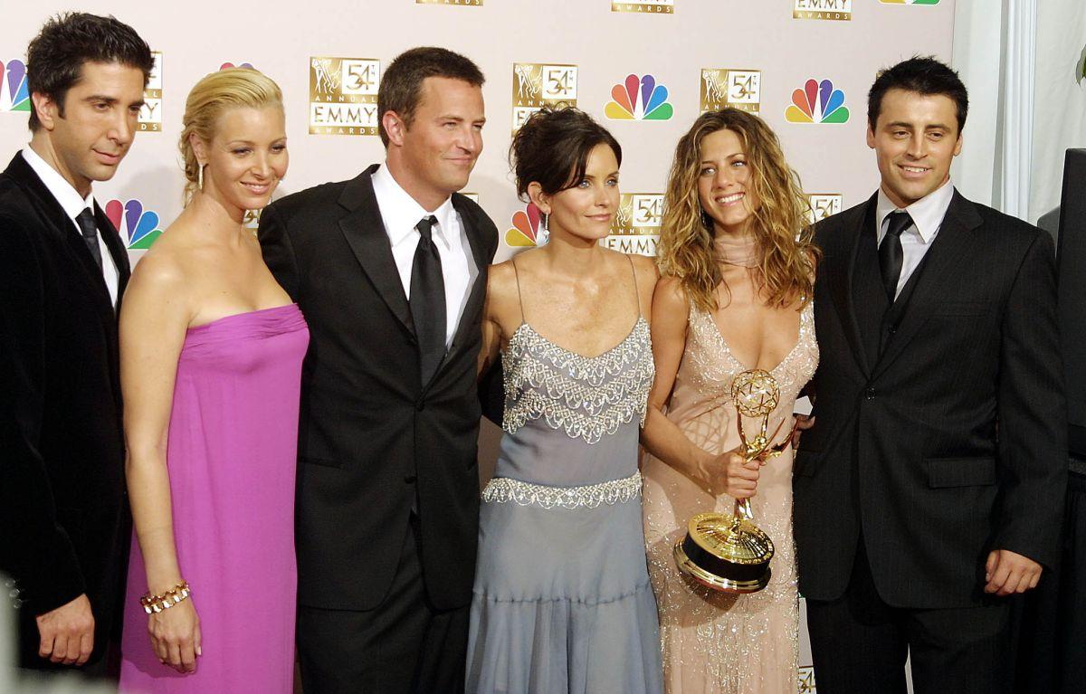 """El cast de """"Friends"""", 2002."""