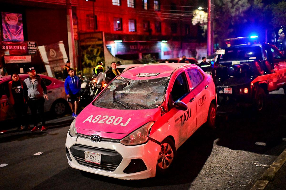 Taxi colapsado