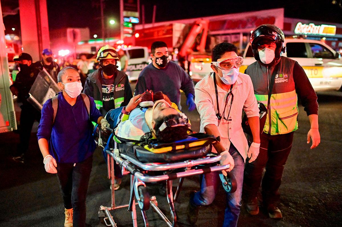 Metro heridos