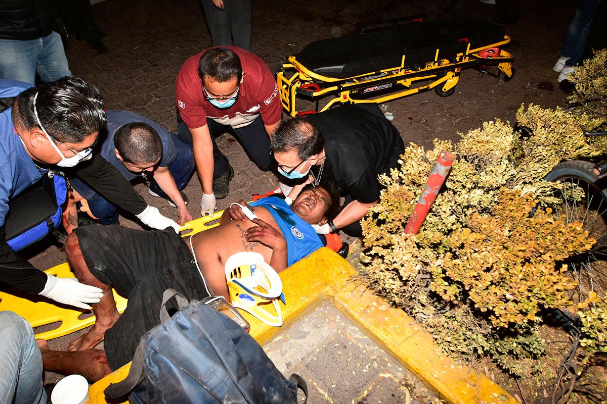 Metro lesionado