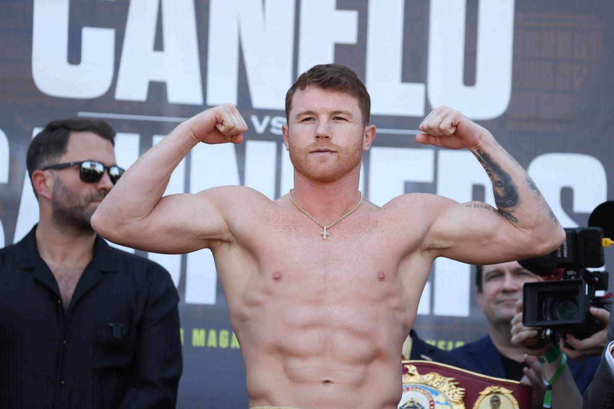 """Billy Joe Saunders gana el """"primer round"""" en el pesaje y Canelo espera un difícil inicio de pelea"""