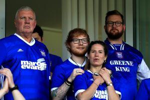 Ed Sheeran será patrocinador del Ipswich, el equipo de sus amores