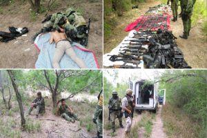 """Golpe al Mencho, rescatan a 18 personas que el CJNG """"reclutó"""" con engaños y les quitan un arsenal"""