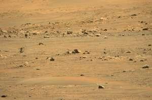 El helicóptero de la NASA en Marte completó su primer viaje de ida... y  además se dejó escuchar