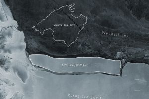 El iceberg más grande del mundo se desprendió en la Antártida