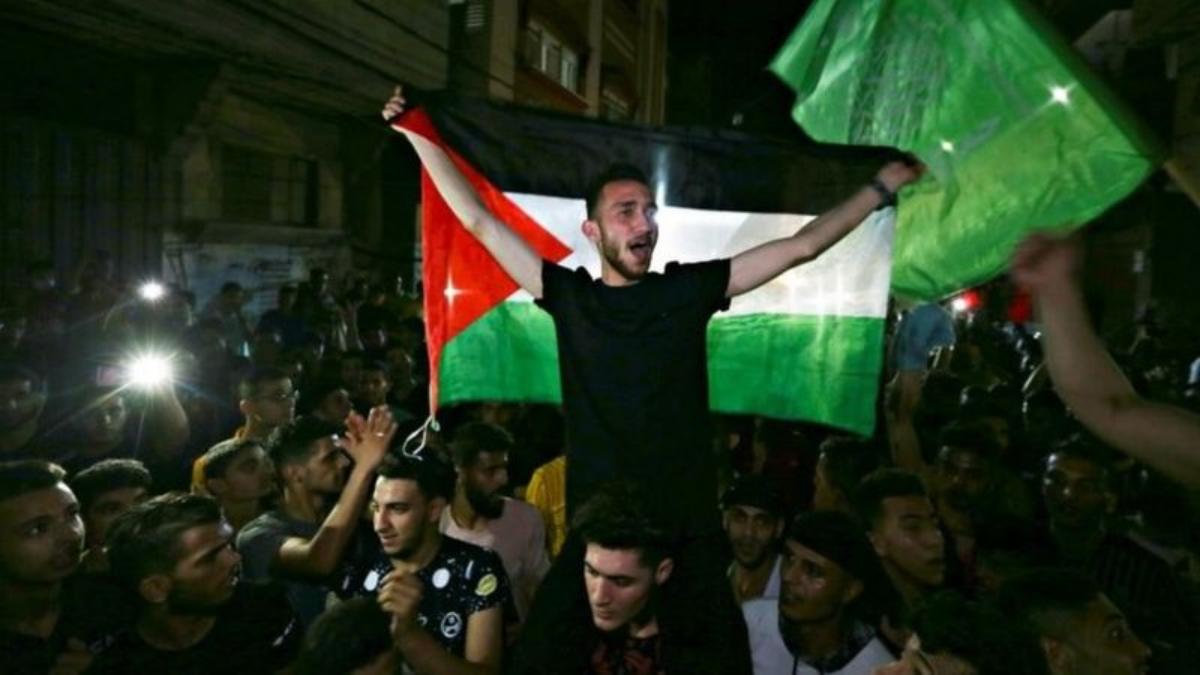 El alto el fuego fue celebrado en los territorios palestinos.