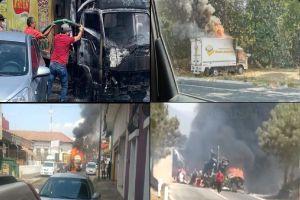 VIDEO: CJNG quema camiones y asesina a 5 personas en medio de pelea contra Cárteles Unidos