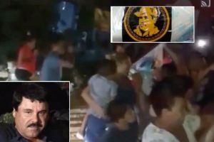 VIDEO: Comida, despensas y balas a nombre Chapo Guzmán