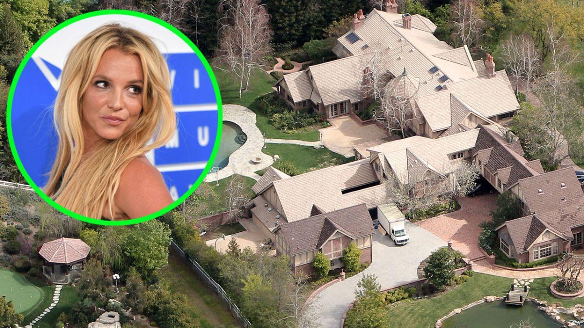 Así era la mansión de Britney Spears antes de ser demolida para volverse hogar de las Kardashian