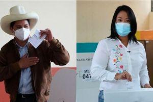 """Elecciones en Perú: Castillo adelanta a Fujimori en la ajustada recta final del conteo y la candidata de derecha habla de """"fraude"""""""